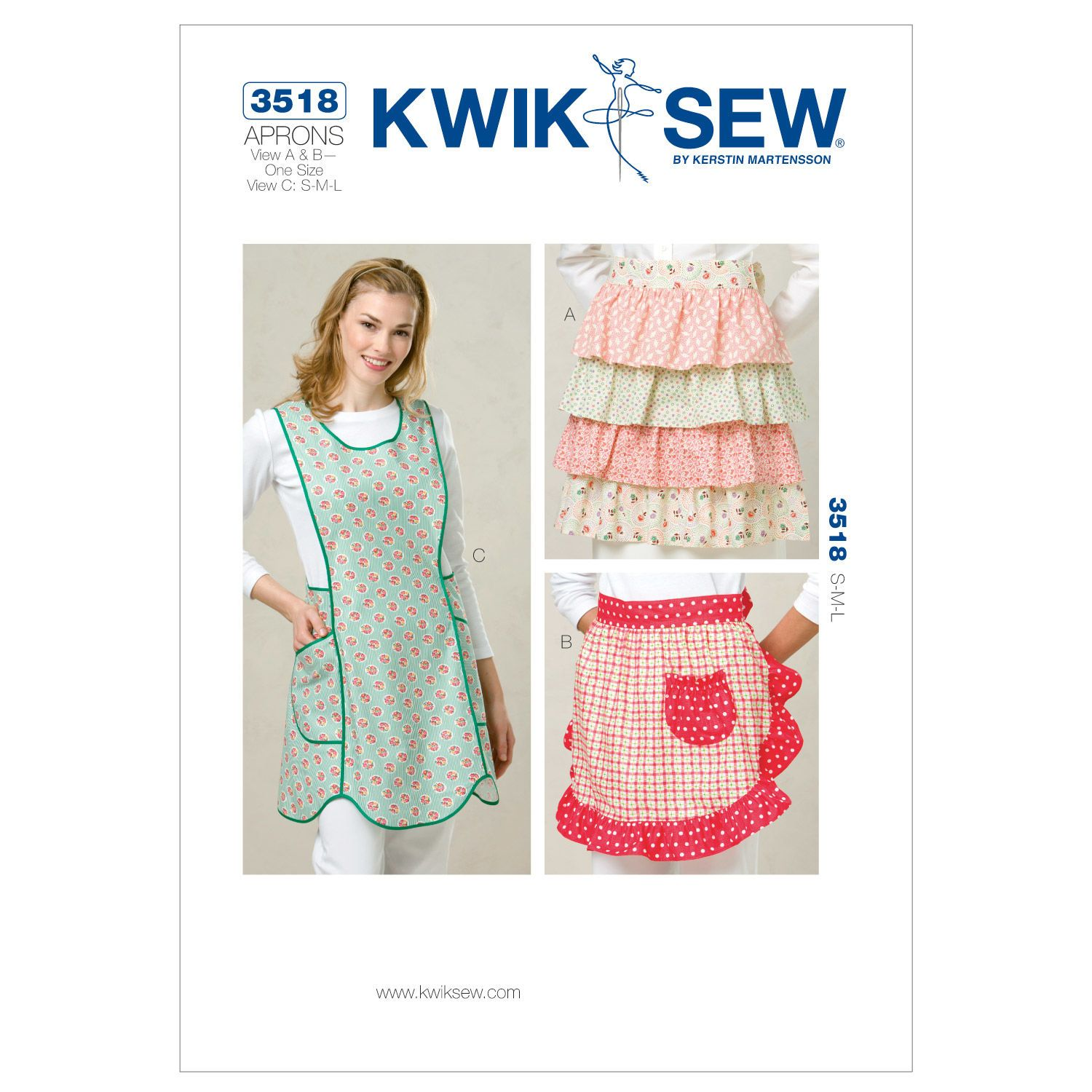 Kwik Sew Misses Aprons - K3518 | Kwik sew, Apron and Patterns