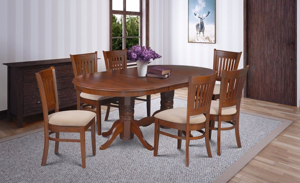 Somerville Oval Dinette Kitchen Dining Table Set 42 X78 W Leaf Oval Table Dining Dining Table Dining Table In Kitchen