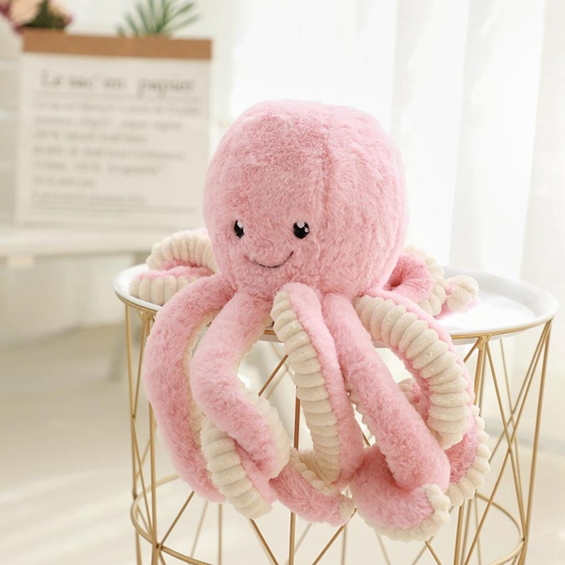 Cute Octopus Kids Big Soft Toy For Sleeping Pendant Plush | Etsy