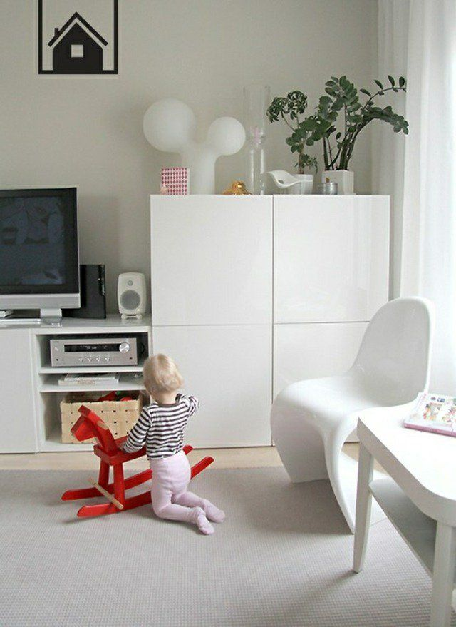 Meuble besta ikea un syst me de rangement modulable pinterest salons tv furniture and for Meuble de rangement ikea