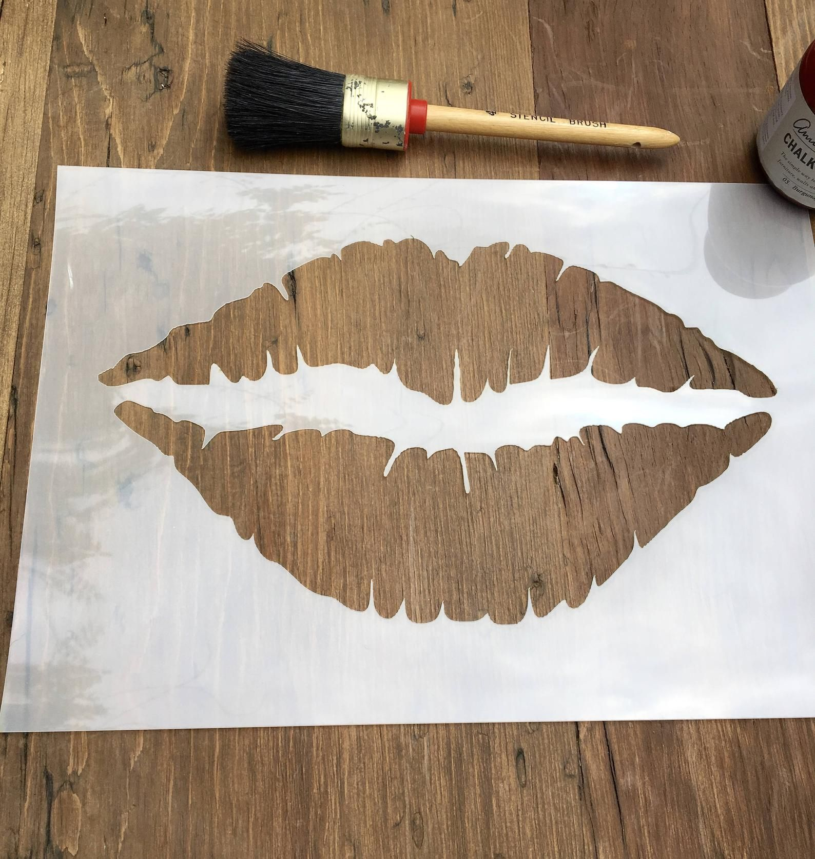 Lips Mouth Stencil A4, 125 or 190 thickness film
