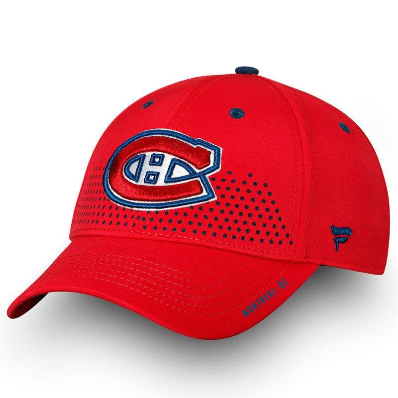 ea8cd9ed Montreal Canadiens Fanatics Branded 2018 Draft Flex Hat– Red ...