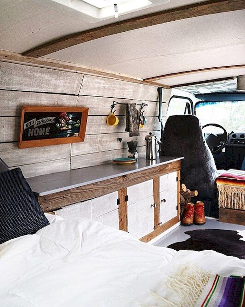 Camper Van Interior Design And Organization Ideas 68