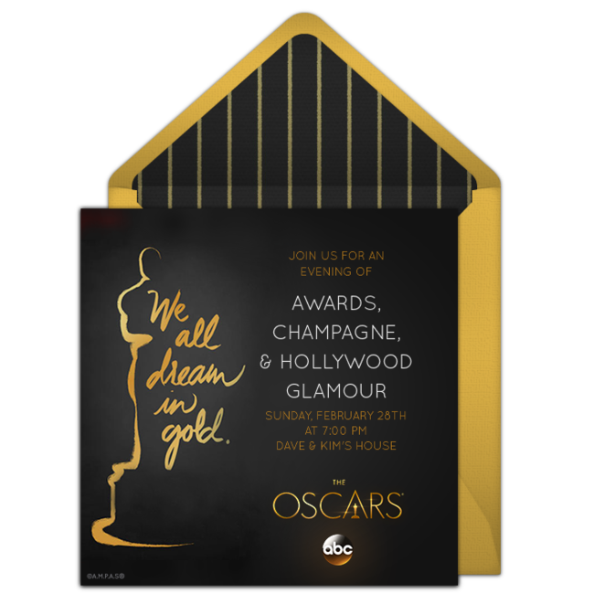 Oscar Invitation was luxury invitations design