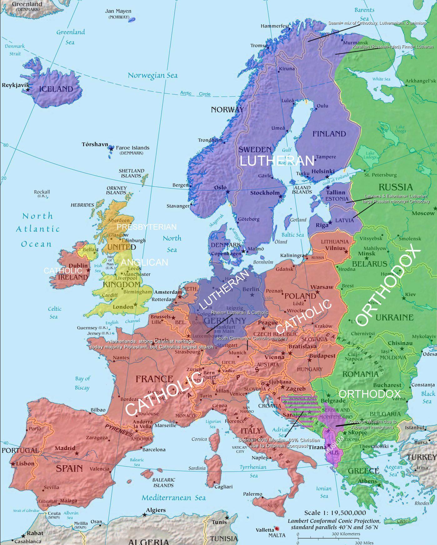 Map Of Europe 1500 Religious Www Bellissimonyc Com