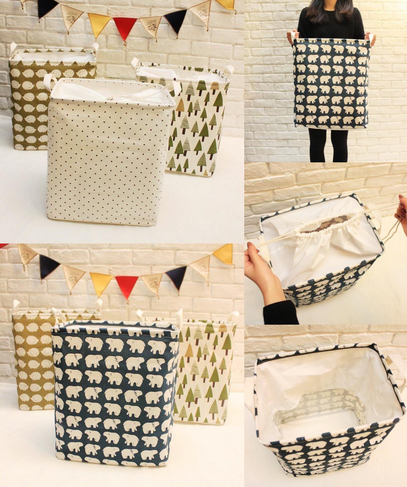 Storage Boxes [Visit To Buy] 2016 Fashion 35*25*40Cm Unique Cotton