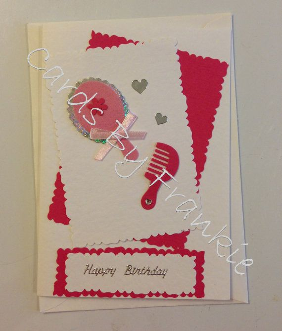 Handmade pink beautician birthday card by cardsbyfrankie on etsy handmade pink beautician birthday card by cardsbyfrankie on etsy 150 fun cardshair stylistsbirthday bookmarktalkfo Images