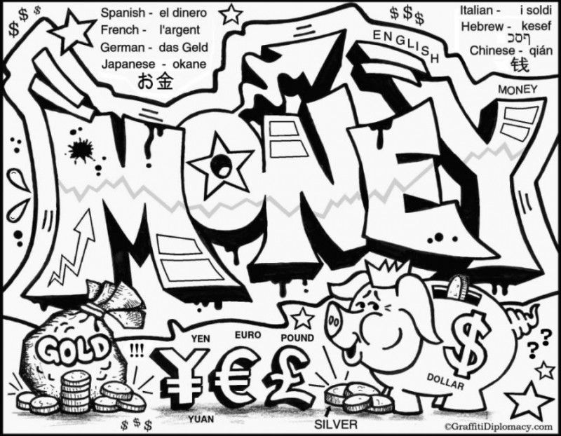 Graffiti Coloring Pages For Kids | Coloring Pages | Pinterest