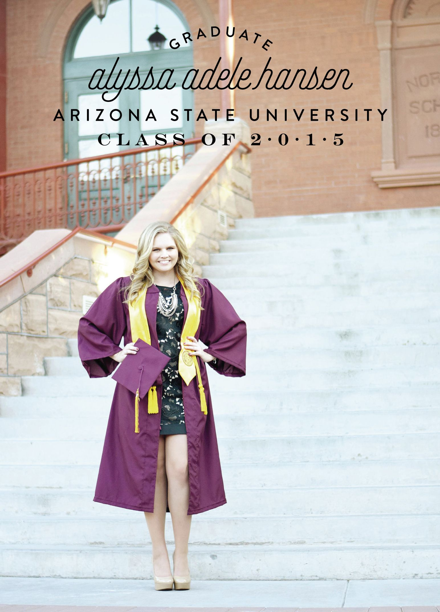Arizona State University Graduation Announcement With Images