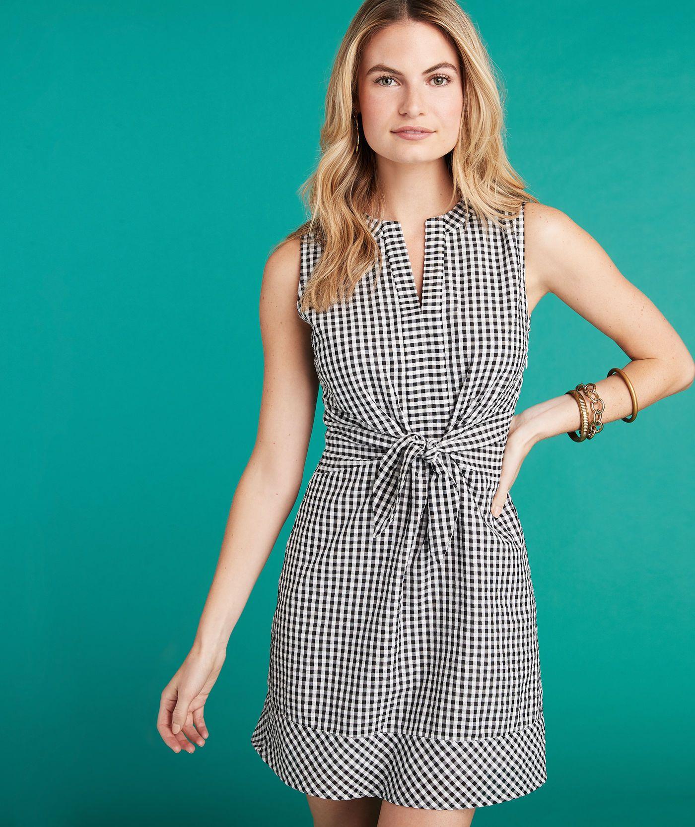 d5fe9da387 Shop Gingham Seersucker Tie Front Dress at vineyard vines | 1 in ...