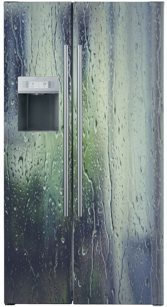 Rain Vinyl refrigerator decals , Fridge wraps UK, Vinyl