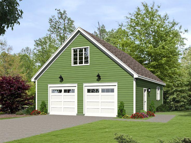 062g 0088 2 car garage plan with boat storage garage for Garage plans with boat storage