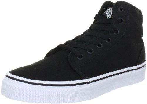VANS MENS 106 HI SKATE SHOES BLACK WHITE SIZE 6.5 Vans http://www.amazon.com/dp/B007TYG42I/ref=cm_sw_r_pi_dp_pp0cvb1MMFX6Z