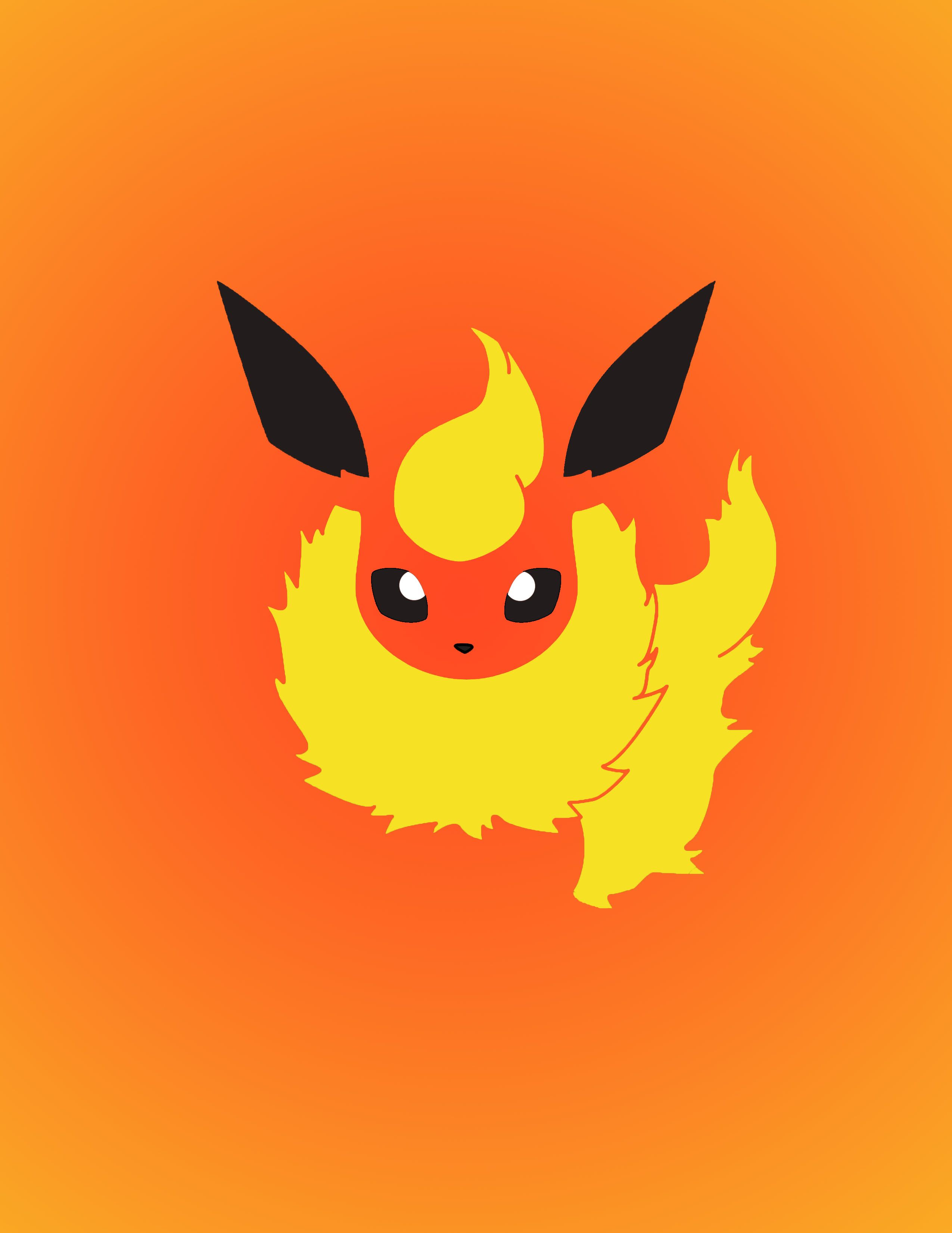Eevee Gradient Collection Flareon Pikachu Wallpaper Eevee Pokemon Art