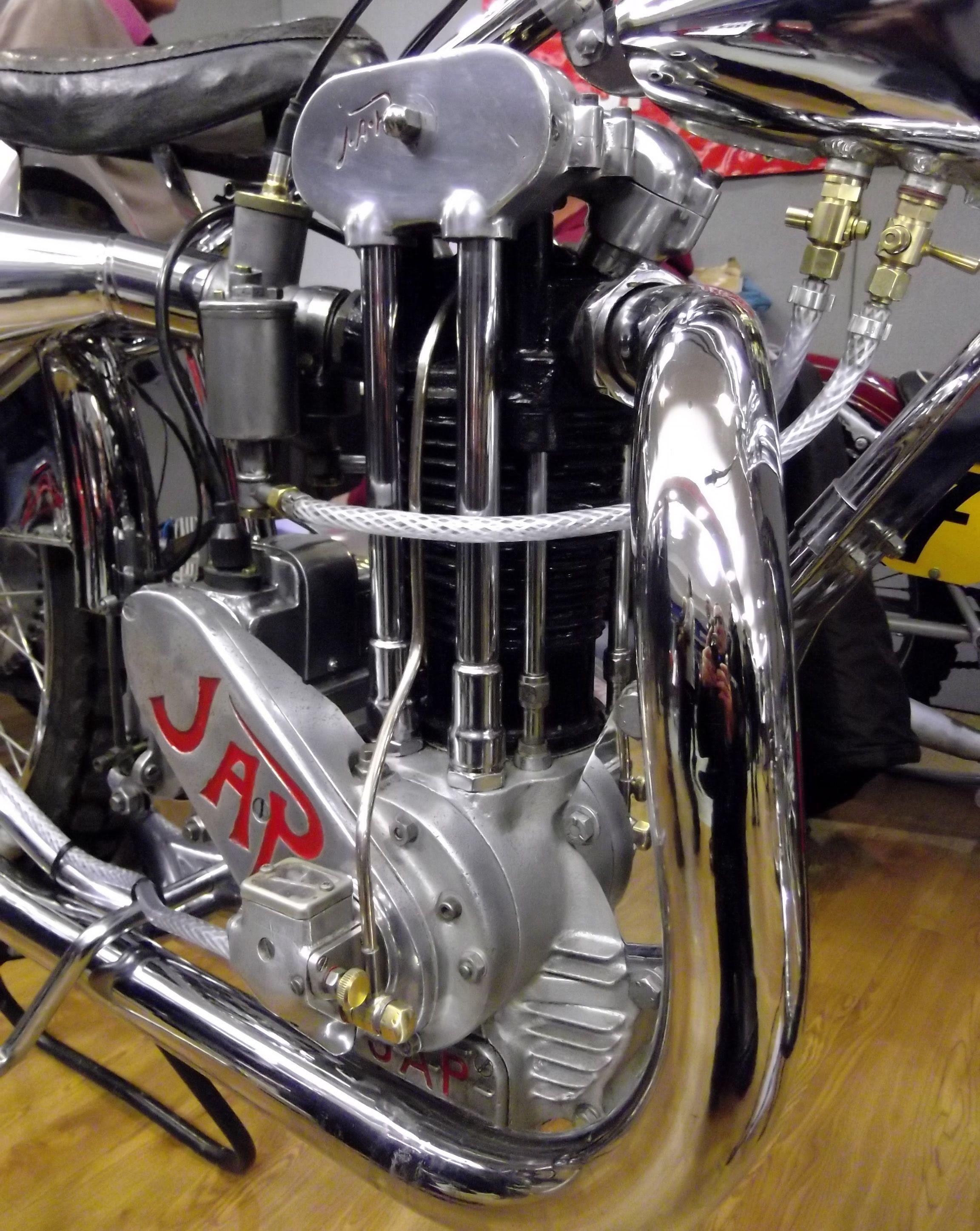 500cc JAP engine, in a speedway bike  Kempton Auto-Jumble