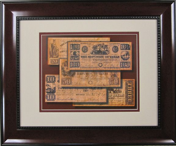Republic of Texas Money Print