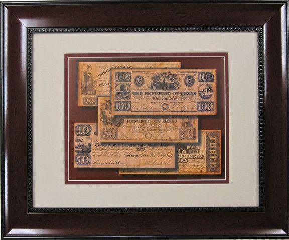 Republic of Texas Money Print