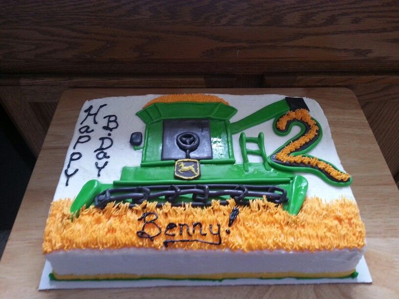 Combined Tractor Birthday Cake Ideas