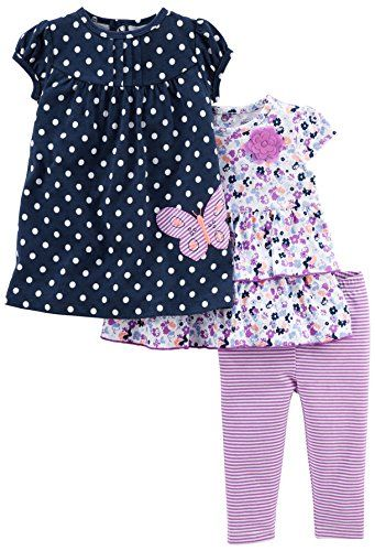 Simple Joys by Carters Girls 3-Piece Playwear Set