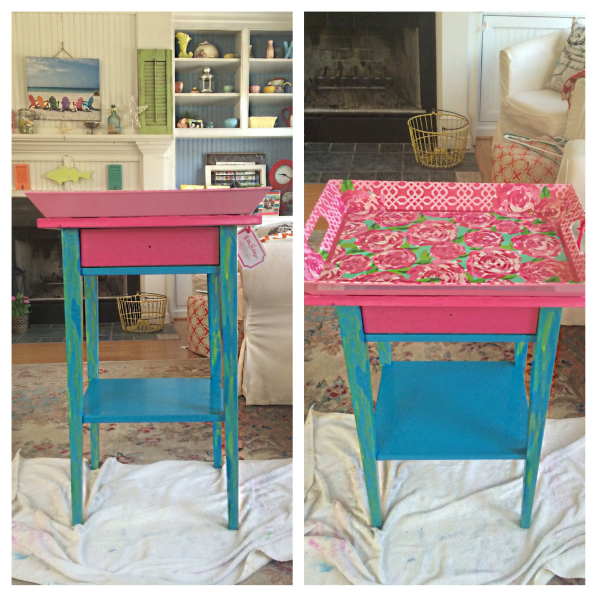 DIY bedside table college apartment makeover home