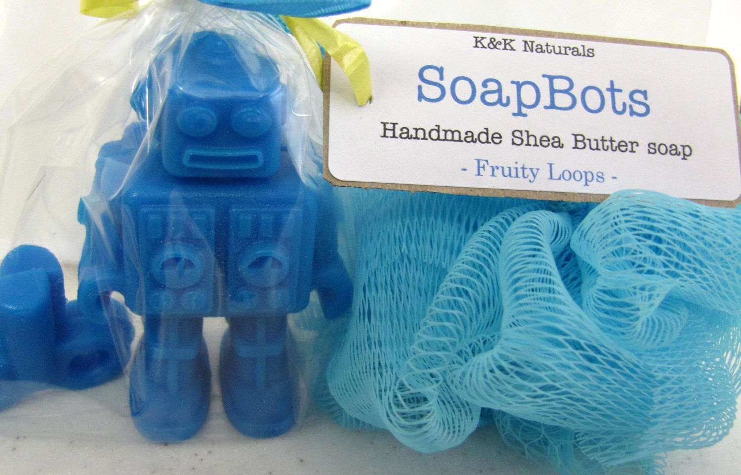 SoapBot Party Favors - Set of 12 - you pick the scent and color - custom labeling. $45.00, via Etsy.