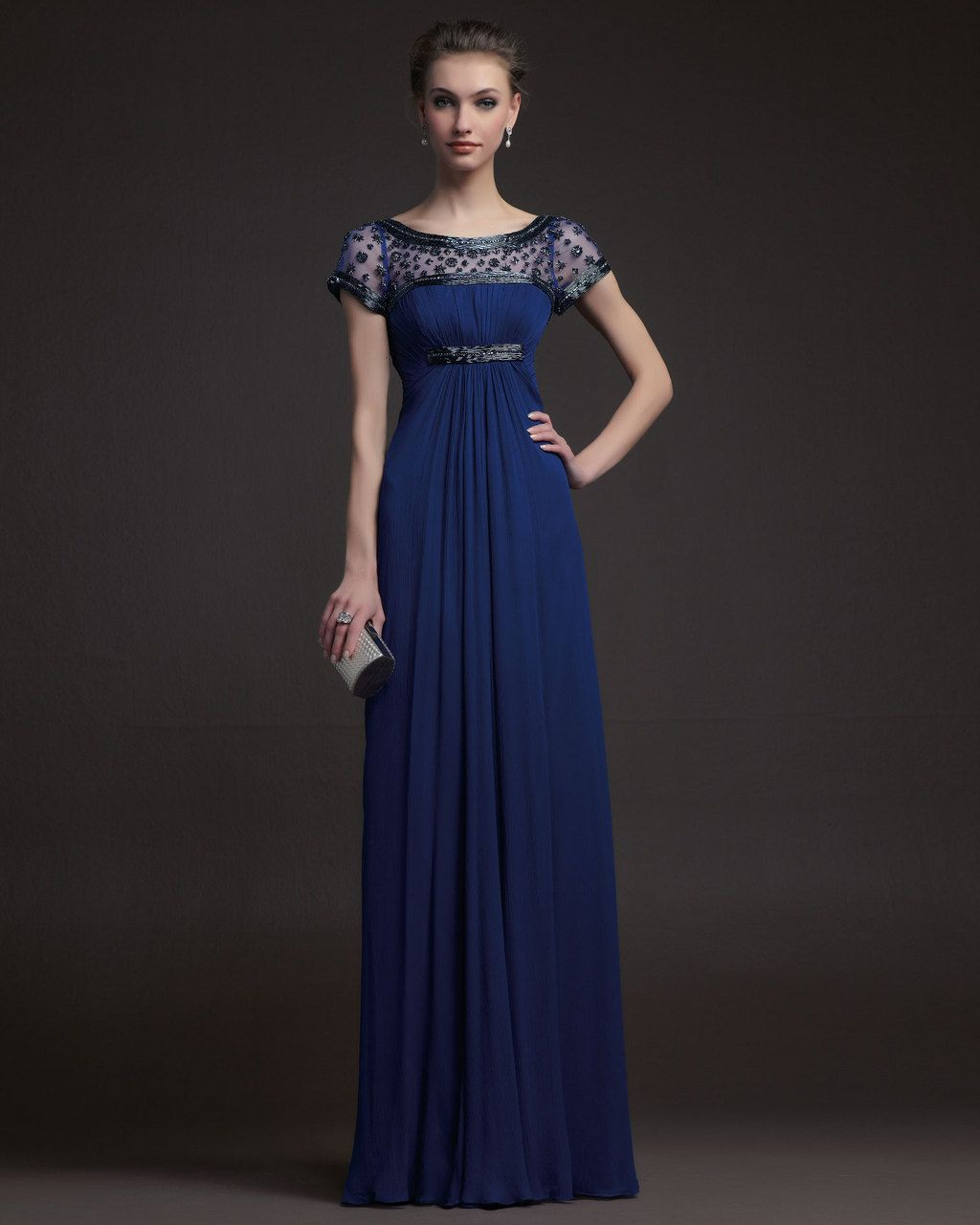 Gorgeous bridesmaid dresses from aire barcelona navy beaded