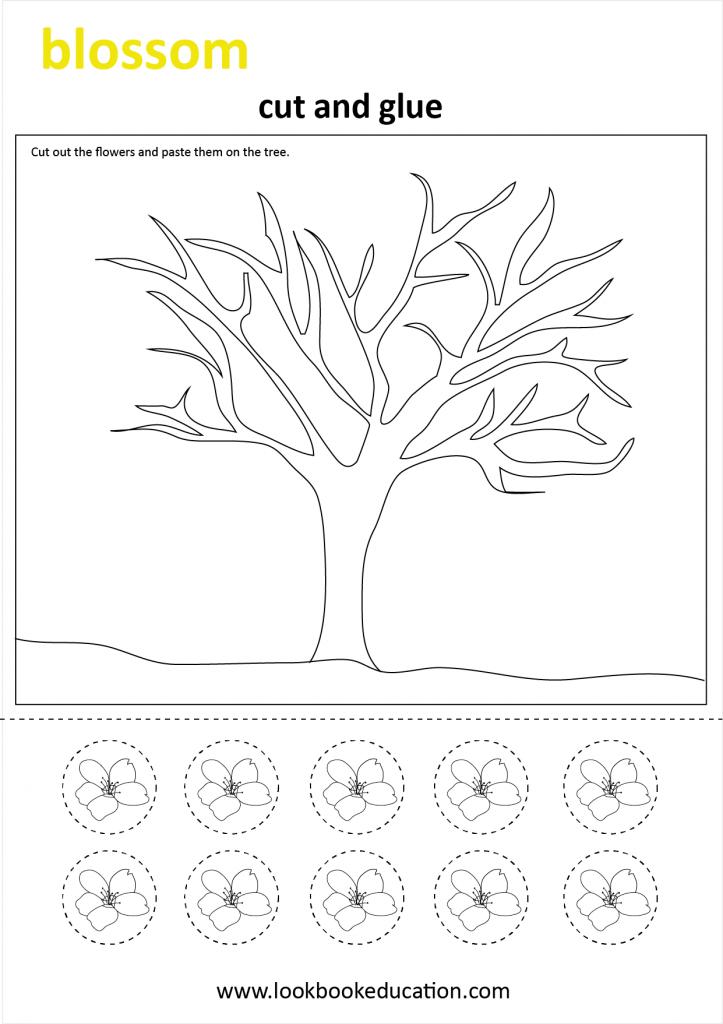 Spring Craft Worksheet in 2020 Kindergarten crafts