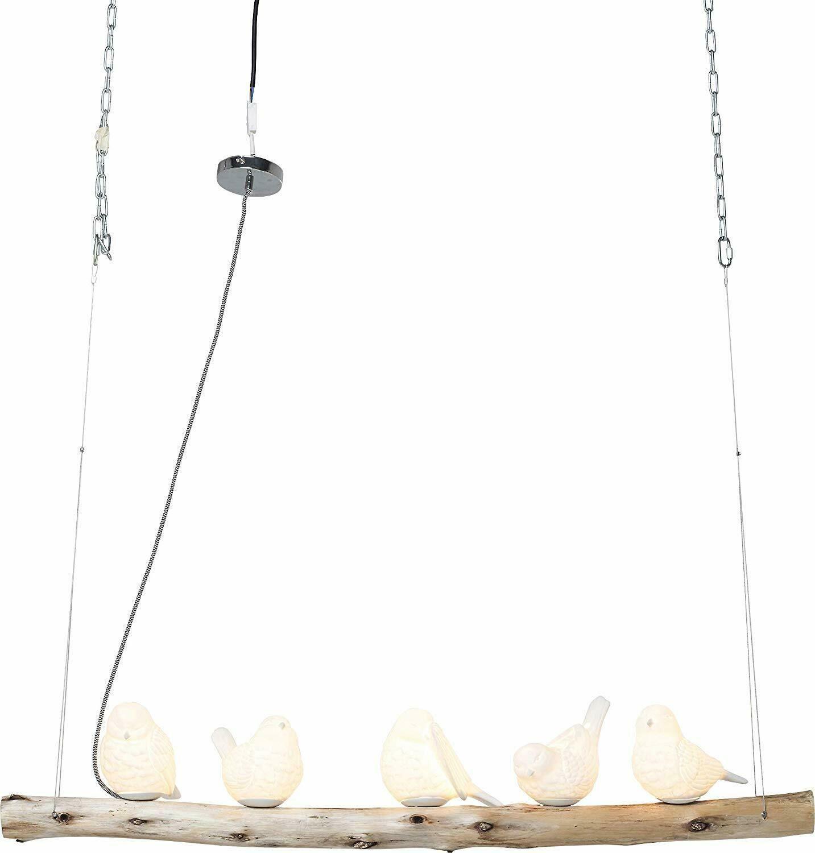 Kare Design Lampara De Techo De Aves Comedor Pendiente De La Luz 5 Pajaros De Porcelana 120x120x15 In 2020 Pendant Lamp Diy Easter Decorations Pendant Lamp Dining