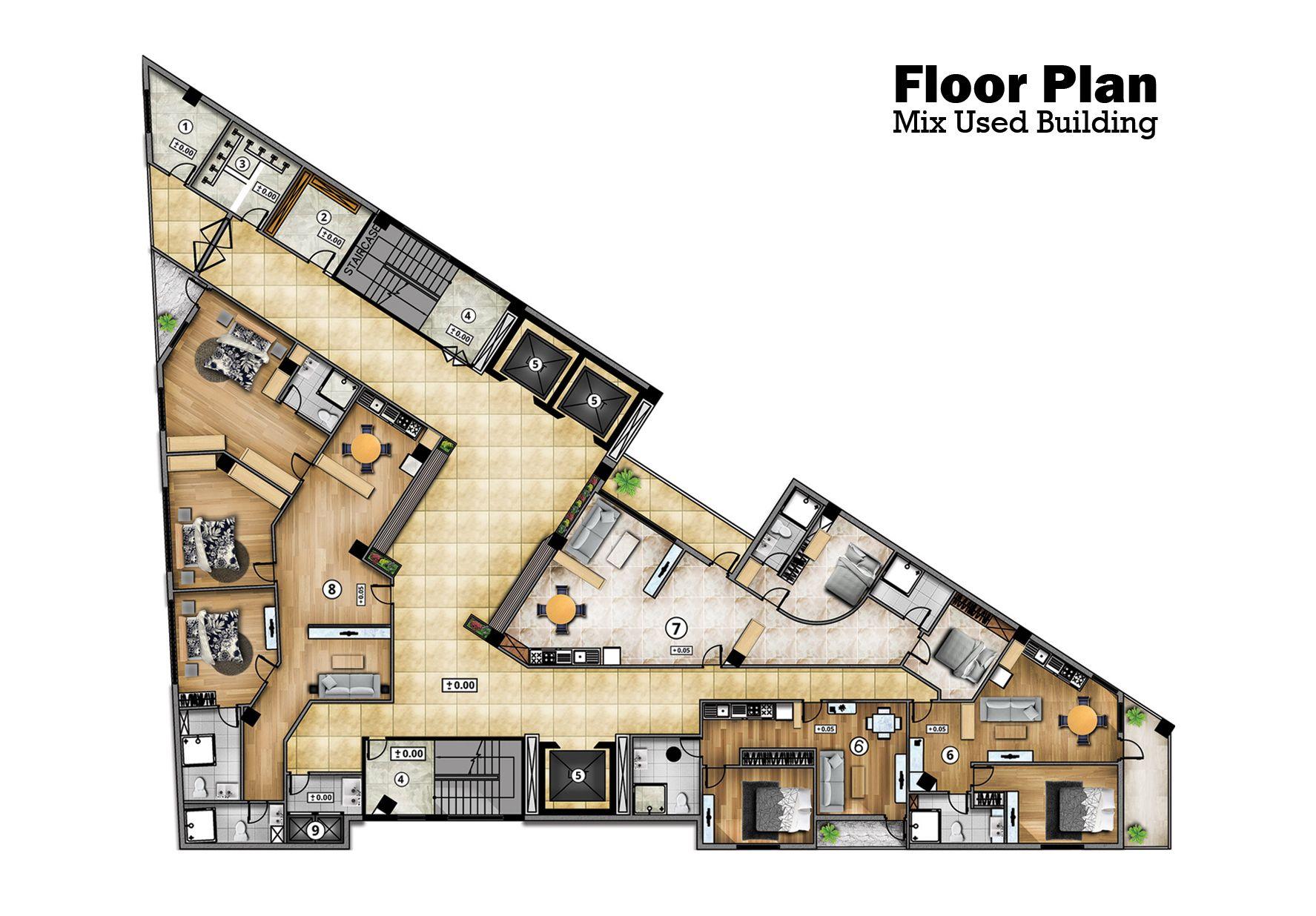 Park Art|My WordPress Blog_Rendered Floor Plans In Autocad