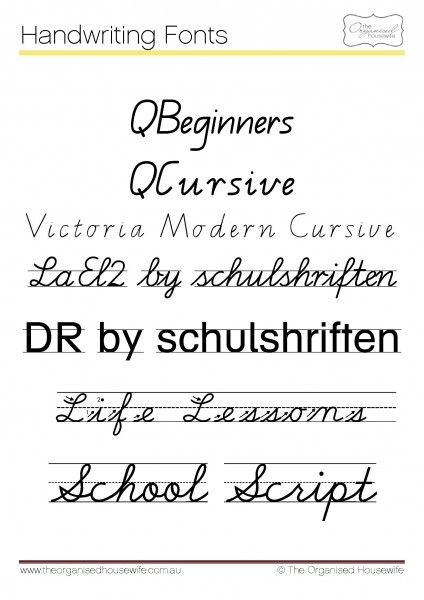 Fonts To Help Kids Write Qld Cursive The Organised Housewife