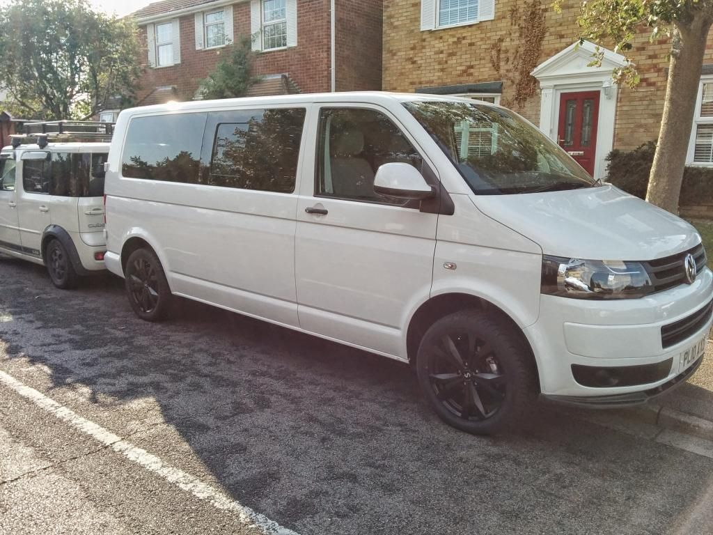 awesome example of a white vw transporter t5 with 18 supermetal bullet wheels in exclusive [ 1024 x 768 Pixel ]