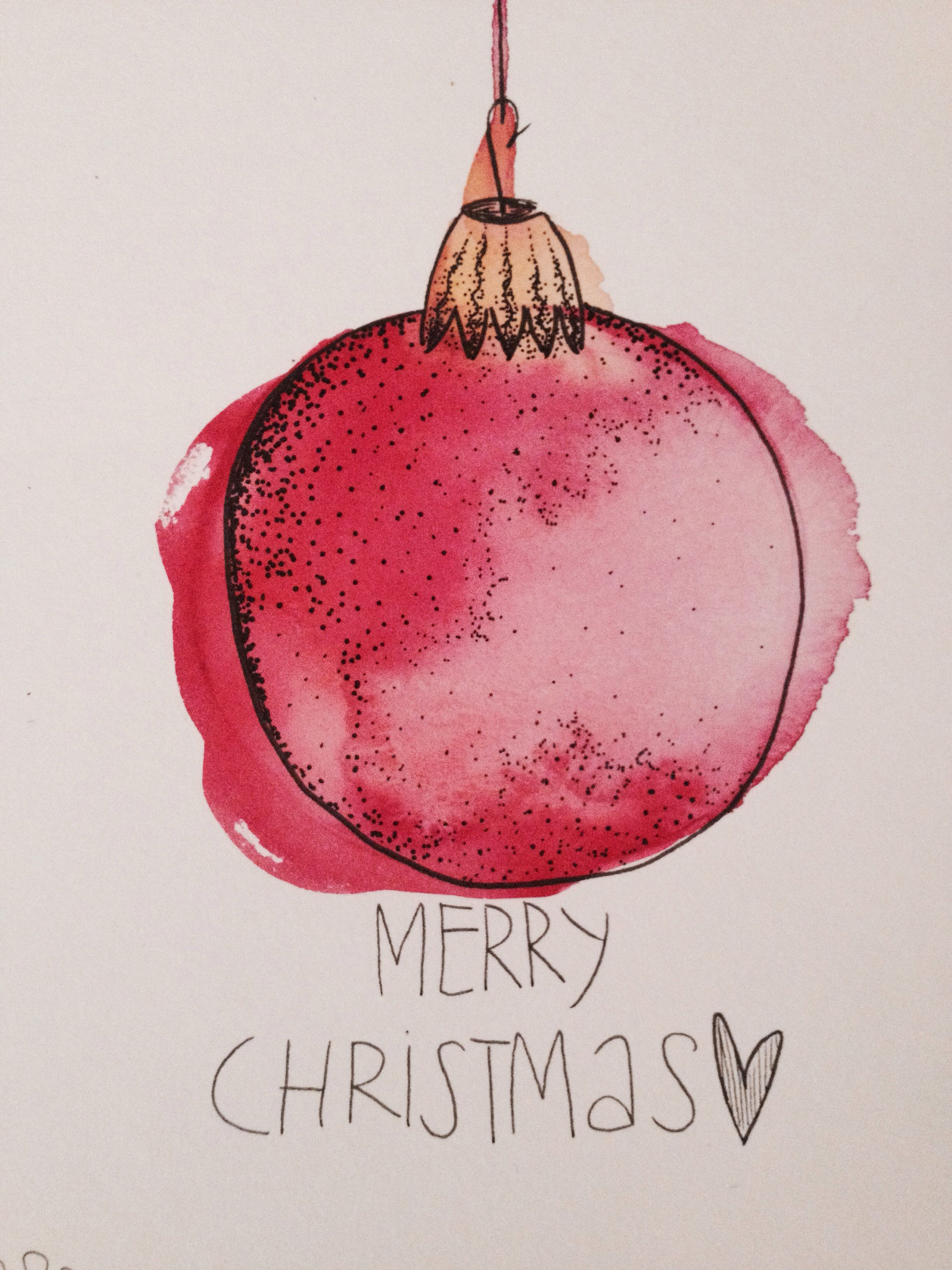 Aquarell Weihnachtskarte Art Watercolor Christmas Cards
