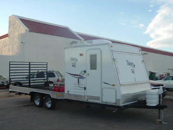 Flat Deck Trailers With Small Living Space Up Front Pirate4x4
