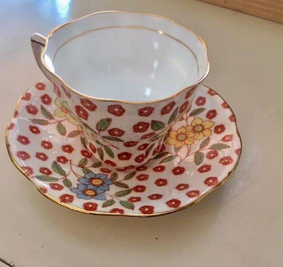 Sweet Rosina Teacup and Saucer