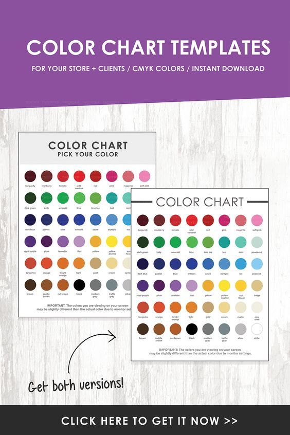 DOWNLOAD Color Chart Samples + Template Blogging 101 Pinterest