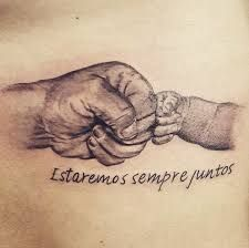 Amor E Pareceria Eterna Tatuagem De Pai Pra Filho Feita