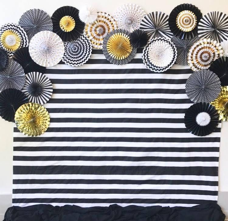 Photo backdrop photobooth backdrop striped photo backdrop photo booth backdrop black and