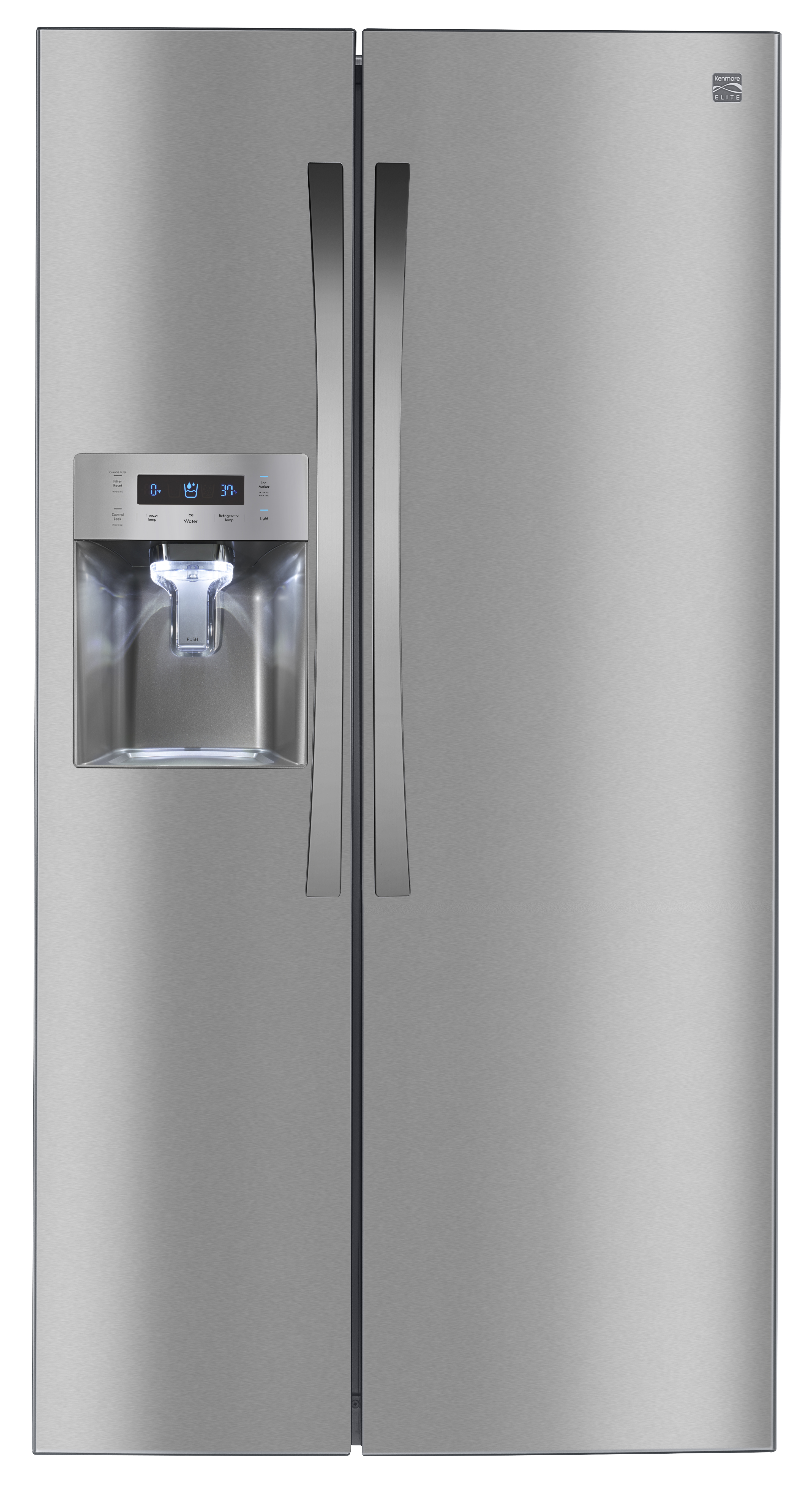 Kenmore Elite 51853 Counter Depth Side By Side Refrigerator Stainless Steel Stainless S Stainless Steel Refrigerator Kenmore Elite Side By Side Refrigerator