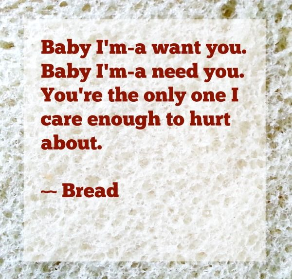 Bread On Bread Baby I Ma Want You Linneyville Bread Lyrics