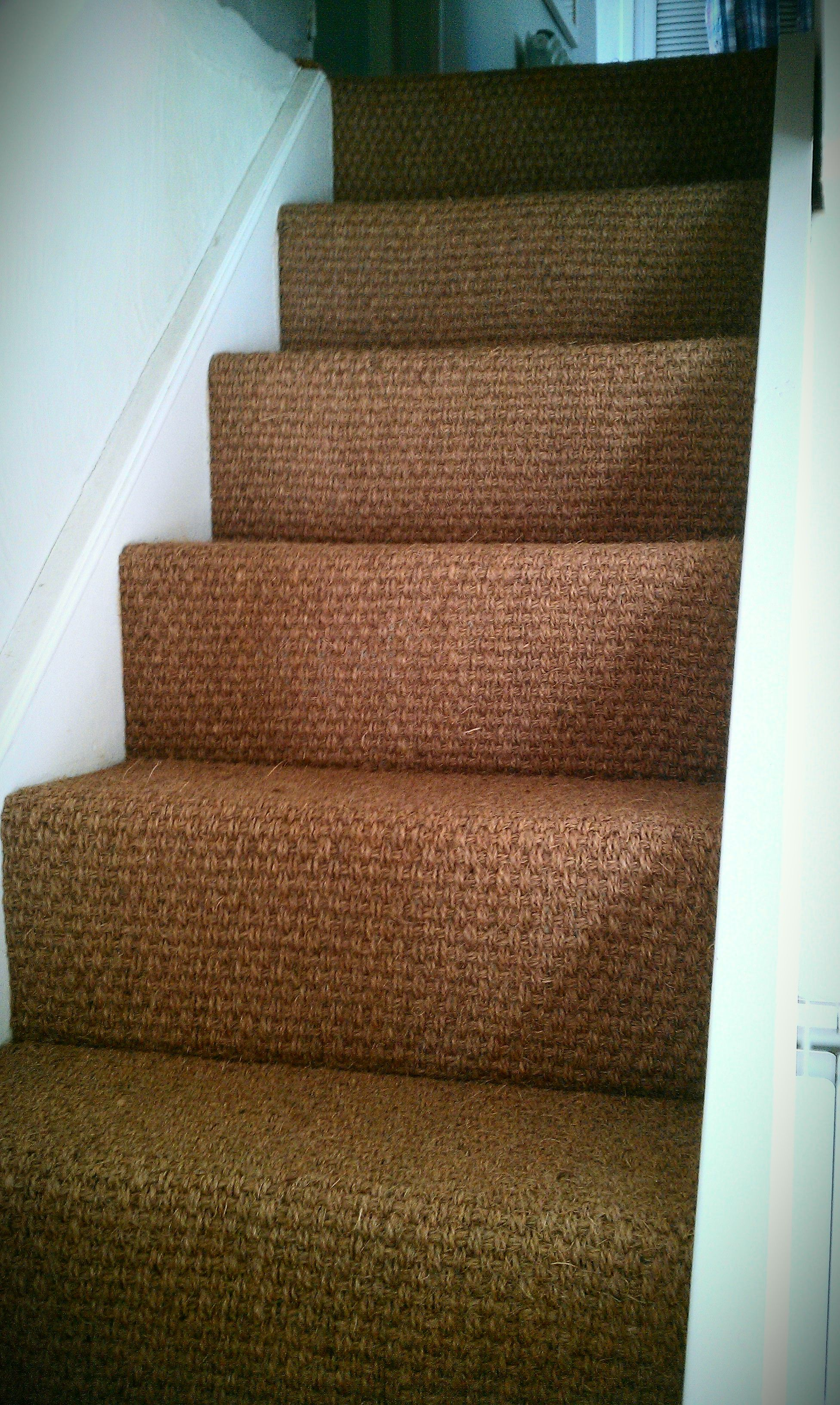 Best Natural Coir Stair Flooring Fitted By Ben At New Era 400 x 300