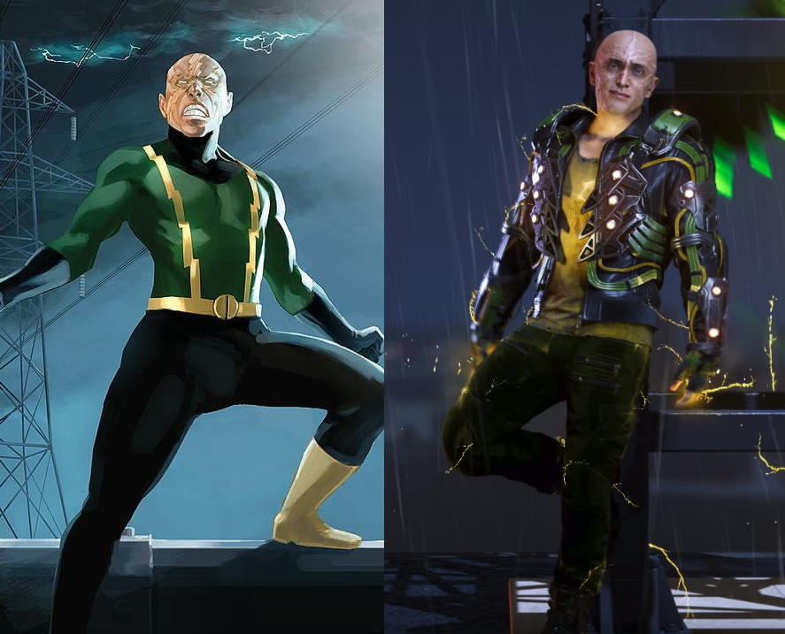 Insomniac's fantastic adaptation of Electro's costume from