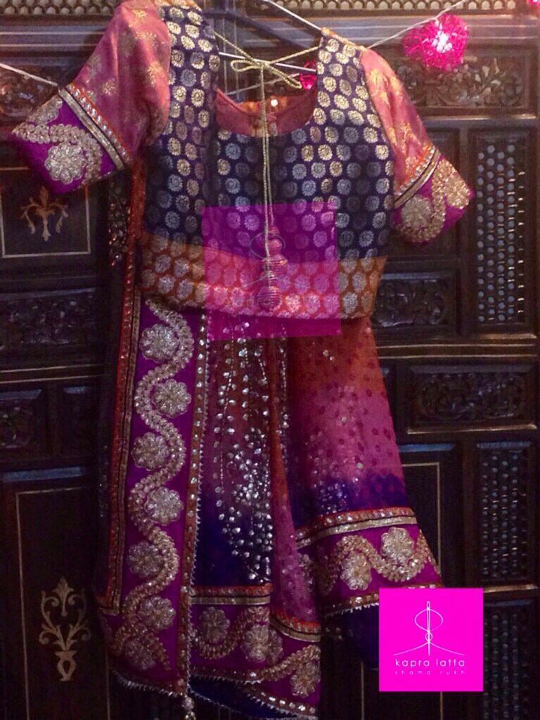 Chunri sari with kamdani work