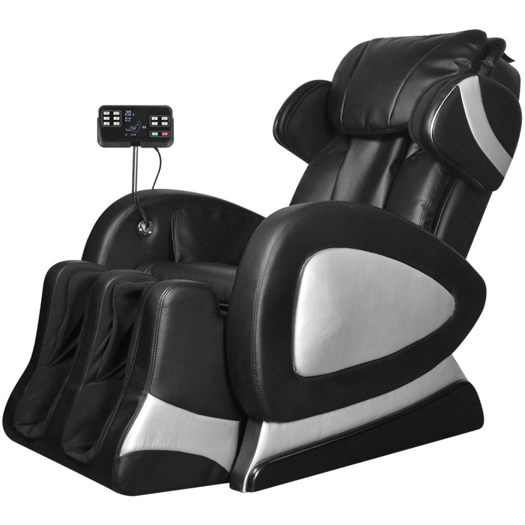 Luxus Massagesessel Black Electric Artificial Leather Massage Chair With Super Screen