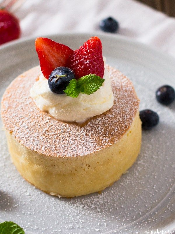 Thick fluffy japanese pancakes make a beautiful dessert when you thick fluffy japanese pancakes make a beautiful dessert when you pair them with summer fruit ccuart Choice Image