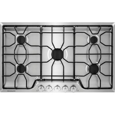 Frigidaire 36 In Gas Cooktop In Stainless Steel With 5 Burners Ffgc3610qs The Home Depot With Images Gas Cooktop Stainless Steel Cooktop Cooktop