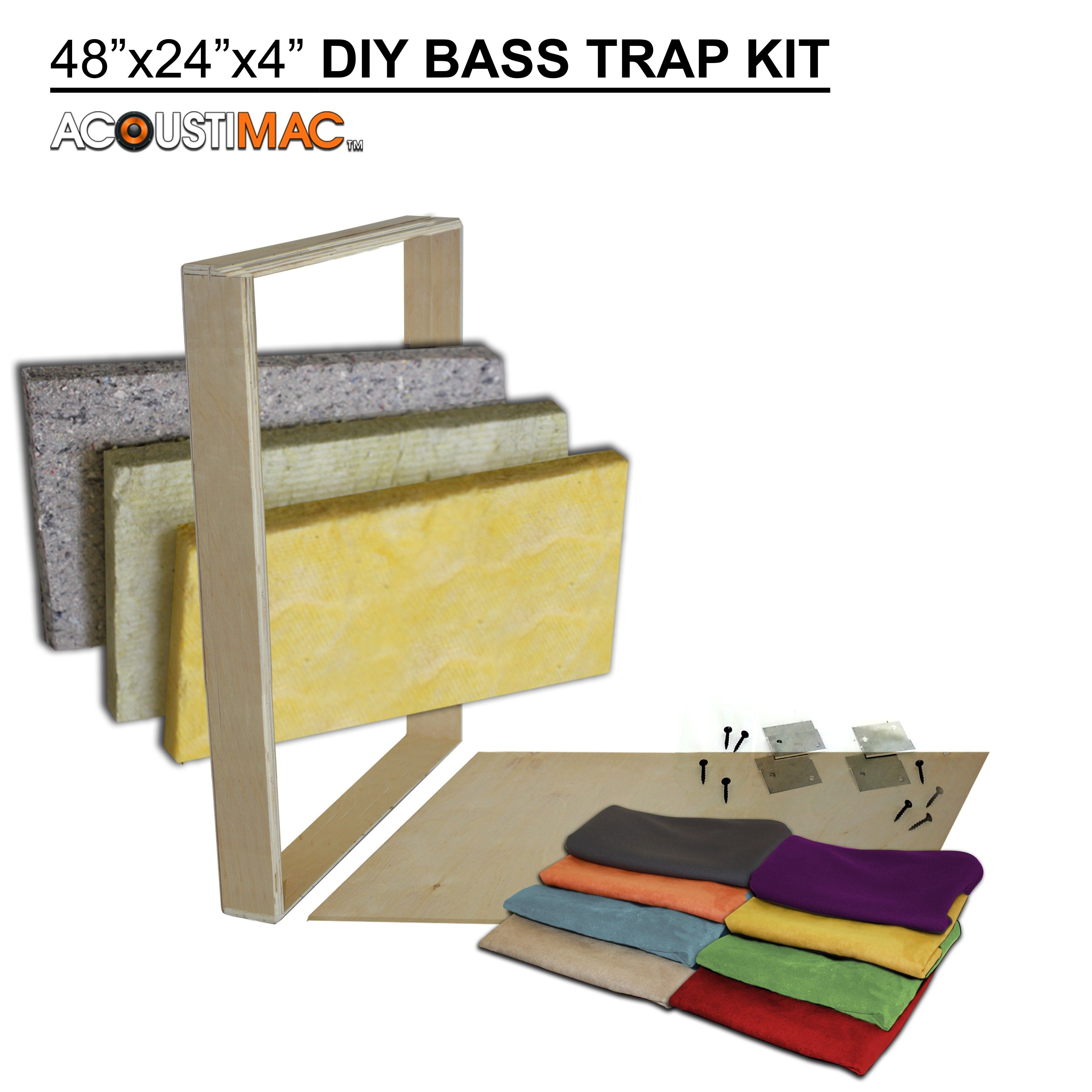 Acoustimac diy424 bass trap kit acoustic panels