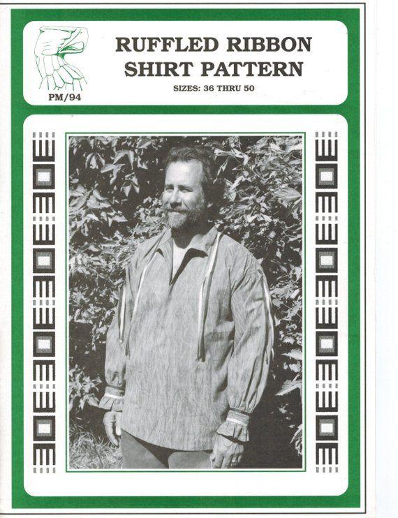 Cherokee Mans Ribbon Shirt Missouri River Sewing Pattern Mountain Man Rendezvous