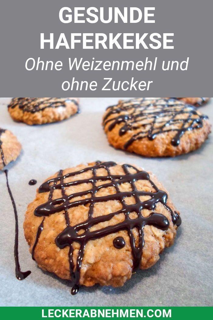 Gesunde Haferflockenkekse - Fitness Kekse zum Abnehmen Heute gibt's zuckerfreie Kekse mit Hafer, Eiw...