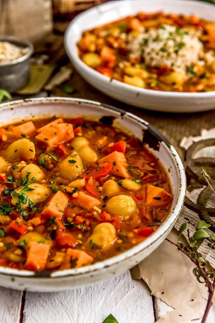 Spanish Butter Bean Sweet Potato Stew