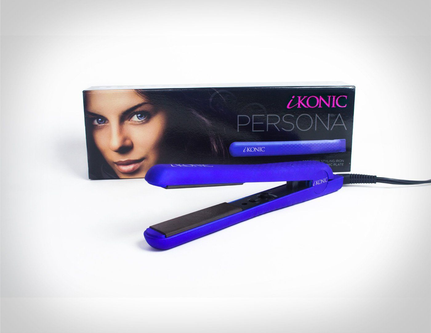 The Persona 1 1 4 100 Pure Ceramic Professional Flat Iron By Ikonic Marine Blue Soft Touch To View Fu Professional Flat Irons Pure Products Hair Care